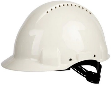 3M™ Hełm ochronny G3000CUV-VI, biały, z wskaźnikiem Uvicator, ze standardową więźbą, z opaską przeciwpotną z tworzywa sztucznego, z wentylacją