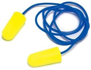 Rolowane wkładki przeciwhałasowe 3M™ E-A-Rsoft™ Yellow Neons (ES-01-005) ze sznurkiem