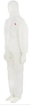3M™ Kombinezon ochronny 4520, kategoria III, type 5/6, rozmiar XL, biały z greenm panelem na plecach
