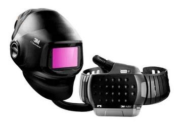 3M™ Speedglas™ Przyłbica spawalnicza G5-01 z filtrem spawalniczym o zmiennej barwie G5-01VC i systemem ochrony dróg oddechowych  3M™ Adflo™, 617830