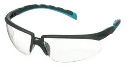 Okulary ochronne 3M™ Solus™ 2000, szaro/niebiesko-zielone zauszniki, z powłoką Scotchgard™, KN, bezbarwne soczewki, S2001SGAF-BGR-EU