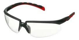 Okulary ochronne 3M™ Solus™ 2000, szaro/czerwone zauszniki, z powłoką Scotchgard™, KN, bezbarwne soczewki, S2001SGAF-RED-EU