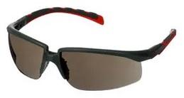 Okulary ochronne 3M™ Solus™ 2000, szaro/czerwone zauszniki, z powłoką Scotchgard™, KN, szare soczewki, S2002SGAF-RED-EU