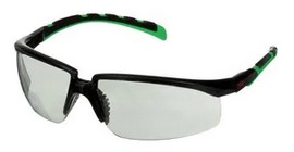 Okulary ochronne 3M™ Solus™ 2000, czarno-zielone oprawki, odporność na zarysowanie (K), szare soczewki IR 1.7, S2017ASP-BLK