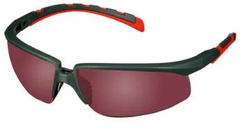 Okulary ochronne 3M™ Solus™ 2000, szaro/czerwone zauszniki, lustrzane, czerwone soczewki, S2024AS-RED-EU