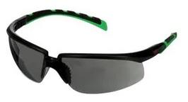 Okulary ochronne 3M™ Solus™ 2000, czarno-zielone oprawki, odporność na zarysowanie (K), szare soczewki IR 3.0, S2030ASP-BLK