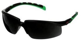 Okulary ochronne 3M™ Solus™ 2000, czarno-zielone oprawki, odporność na zarysowanie (K), szare soczewki IR 5.0, S2050ASP-BLK