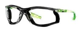 Okulary ochronne 3M™ Solus™ CCS, limonkowe zauszniki, uszczelka piankowa, bezbarwne soczewki z powłoką odporną na zaparowanie/zarysowanie Scotchgard™, KN, SCCS01SGAF-GRN-F-EU